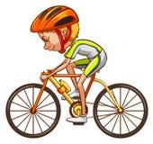 Een schets van een fietser royalty-vrije illustratie