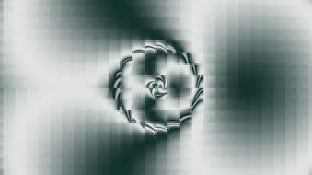 Een schijf in de vorm van vissenogen op een grijze achtergrond stock illustratie