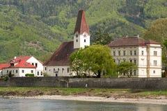 een schilderachtige stad in de Wachau-vallei royalty-vrije stock afbeelding