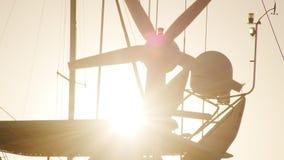 Een schip` s propeller stock video
