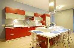 Schone Moderne Keuken Royalty-vrije Stock Afbeeldingen