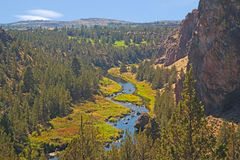 Een Schot dichtbij Smith Rock Central Oregon stock afbeelding