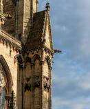 Een schot van een deel van Lincoln Cathedral die wat van het tonen is decoratie stock fotografie