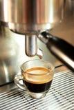 Een schot van espresso Stock Afbeelding