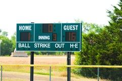 Het scorebord van het honkbal Stock Afbeeldingen