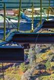 Een sectie van de Foresthill-Brug past retroactief aan Stock Foto's