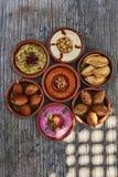 Een selectie van Arabische kleine schotels royalty-vrije stock afbeelding