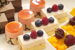 Een selectie van desserts Stock Afbeelding