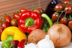 Een selectie van Verse Rauwe groenten Royalty-vrije Stock Foto
