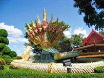 Een Serpentstandbeeld in Thailand Royalty-vrije Stock Afbeelding