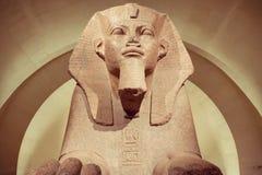 Grote Sfinx van Tanis bij het Louvre Musee Stock Afbeeldingen