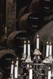 In een sherry-Bodega stock foto's