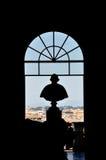 Een silhouet van paus Stock Afbeelding