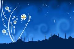 Een silhoutte van Istanboel stock illustratie