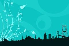 Een silhoutte van Istanboel Royalty-vrije Stock Foto
