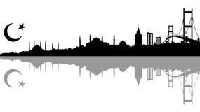 Een silhoutte van Istanboel Royalty-vrije Stock Foto's