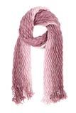 Een sjaal is lilac golf geïsoleerd op een witte achtergrond Royalty-vrije Stock Foto
