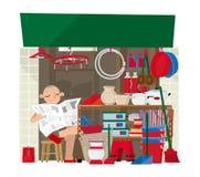 Een slaan de kleine huishoudengoederen in Hong Kong op vector illustratie