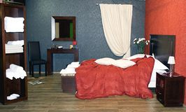 Een slaapkamer Stock Afbeelding
