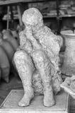 Een slachtoffer in Pompei van de uitbarsting van de Vesuvius Stock Afbeeldingen