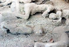 Een slachtoffer in Pompei van de uitbarsting van de Vesuvius Royalty-vrije Stock Foto