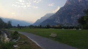 Een sleep bij de voet Alpen royalty-vrije stock fotografie