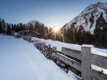Een sleep in Klosters Stock Fotografie