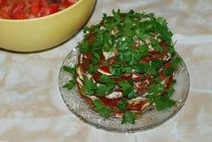 Een smakelijke en levercake Stock Fotografie