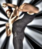 Een smerige shirtless vechter stock illustratie