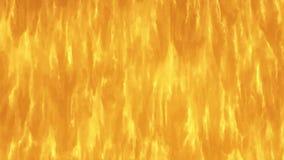 Een snel brandende vlam Straal van vlam Van een lus voorzien video stock footage