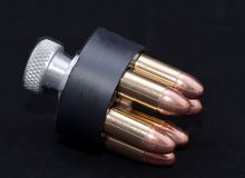 Een snelheidslader voor een revolver Royalty-vrije Stock Foto