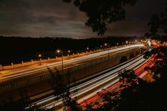 Een snelle beweging van verkeer in NYC stock afbeelding