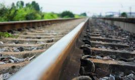 Een solitaire spoorweg Stock Afbeeldingen