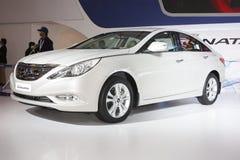 Een sonate van Hyundai op vertoning in AutoExpo 2012 Stock Foto's
