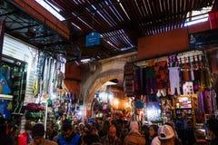 In een souk van Marrakech Stock Fotografie