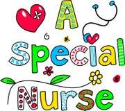 Een speciale verpleegster Stock Afbeeldingen