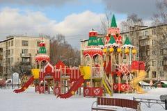 Een Speelplaats, het gestileerde Kremlin in de werf Royalty-vrije Stock Foto