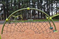 Een speelplaats netto in Shute Park, Hillsboro, Oregon royalty-vrije stock foto's