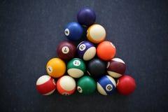 Een spel van pool Stock Foto's