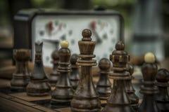 Een spel van schaak Stock Afbeelding