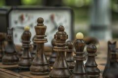 Een spel van schaak Stock Afbeeldingen