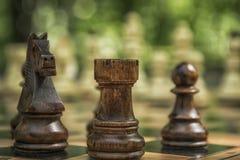 Een spel van schaak Stock Fotografie