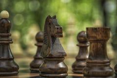 Een spel van schaak Stock Foto's