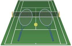 Een spel van tennis Stock Illustratie