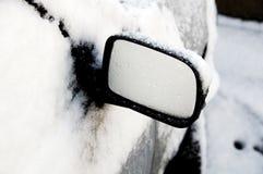 Een spiegel van de Vleugel van de Auto voor stock foto's