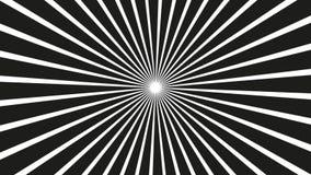 Een spinnende hypnotic abstracte spiraalvormige lijn stock video