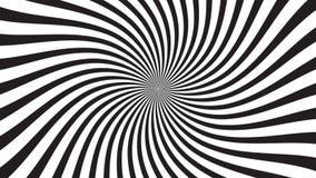 Een spinnende hypnotic abstracte spiraalvormige lijn stock videobeelden