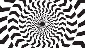 Een spinnende hypnotic abstracte spiraalvormige lijn stock footage