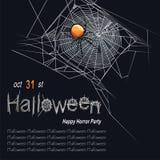 Een spinneweb royalty-vrije illustratie