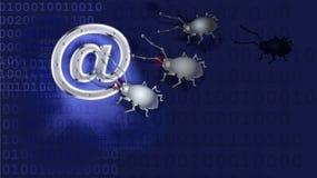 Een spionvirus verdeelt e-mail Royalty-vrije Illustratie